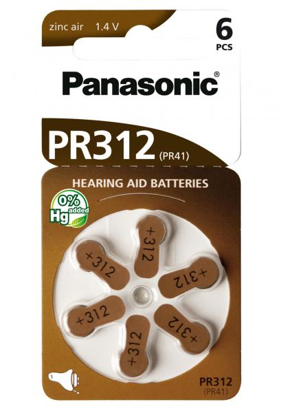 ZINC AIR - PR312 - blister pack