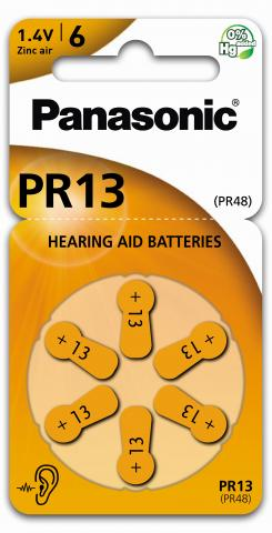 Product Main Image PR-13 Zinc Air blister 6 pieces