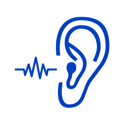 Suitable for hearing aid icon